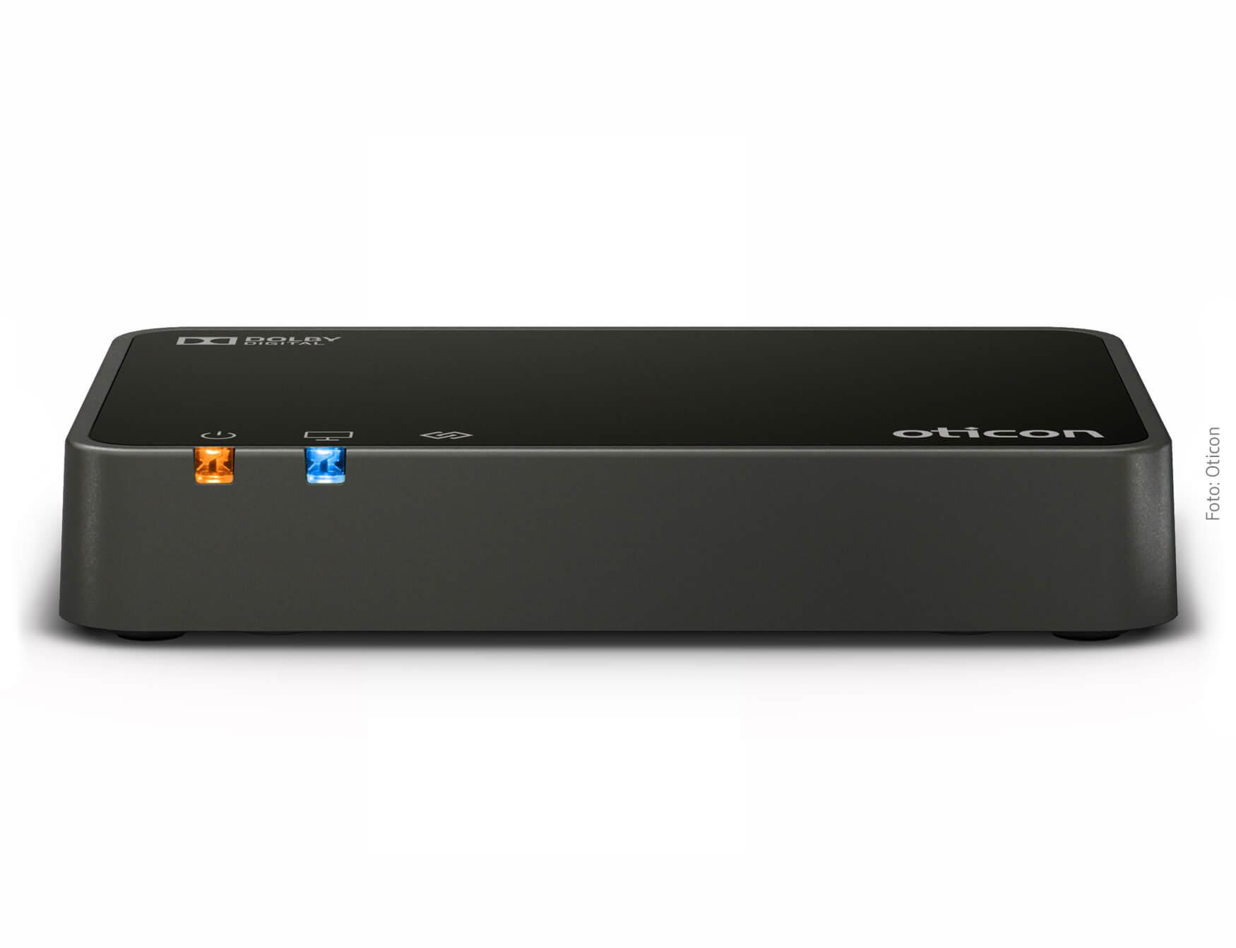 Kabelloser Adapter zur Koppelung von TV und Hörsystem